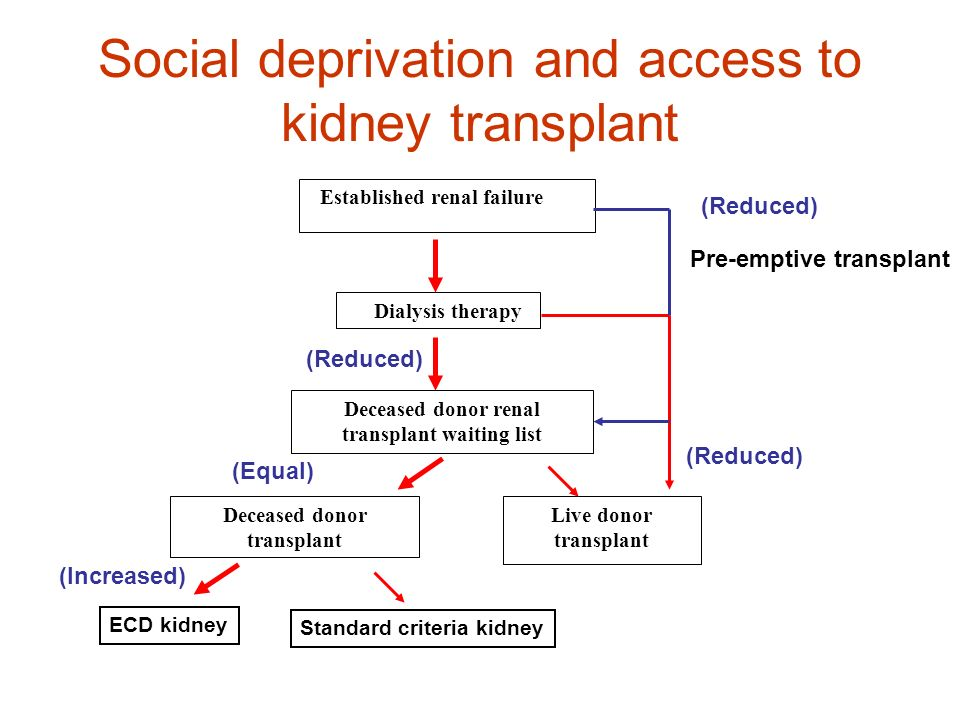 Social deprivation and access to kidney transplant