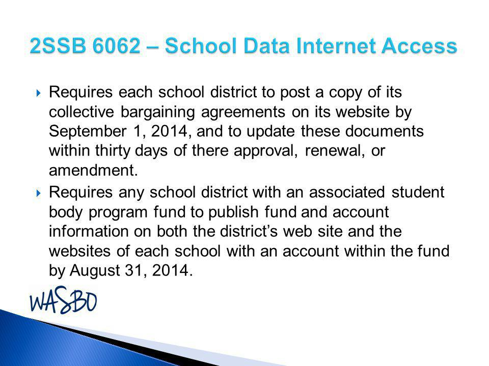 2SSB 6062 – School Data Internet Access