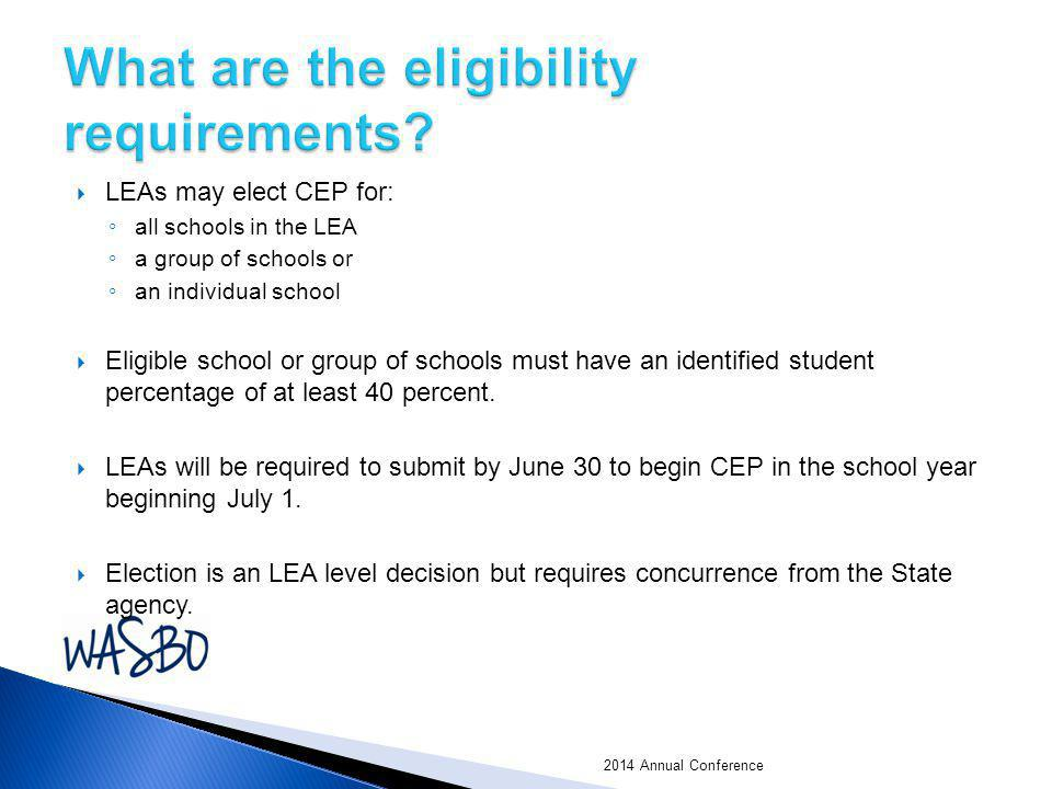 What are the eligibility requirements