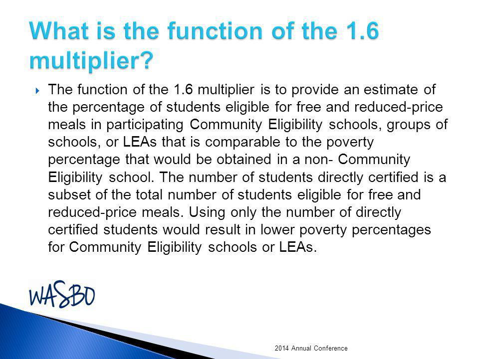 What is the function of the 1.6 multiplier