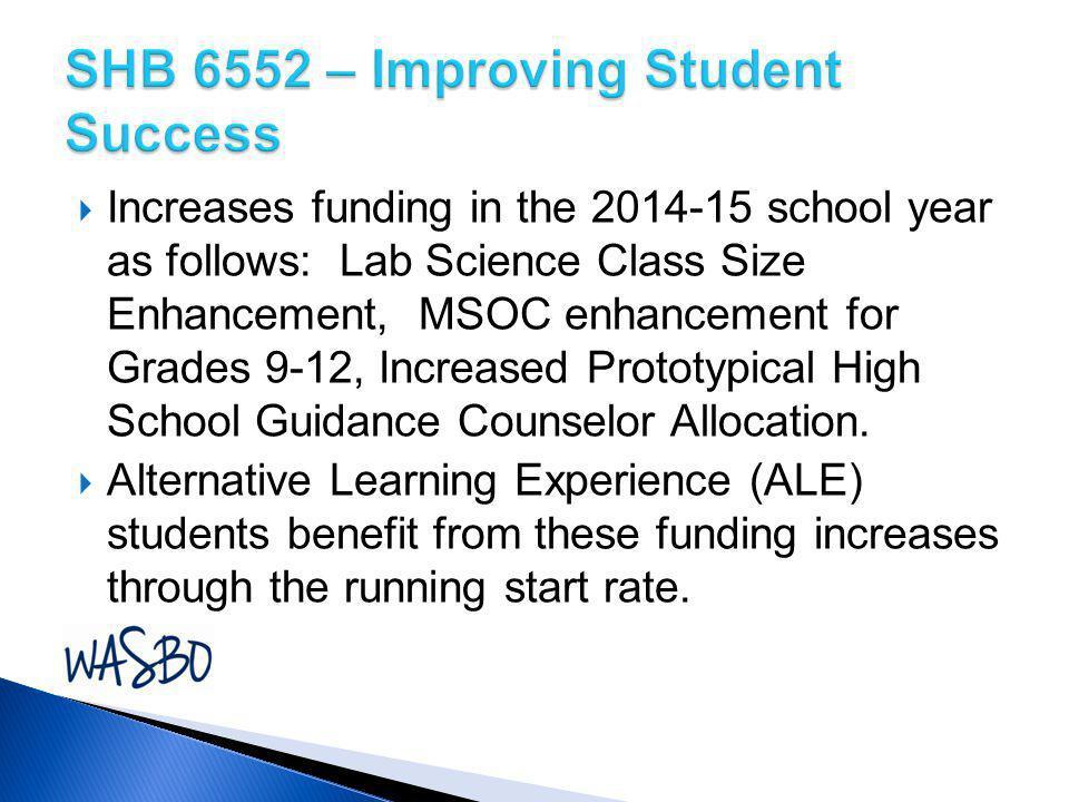 SHB 6552 – Improving Student Success