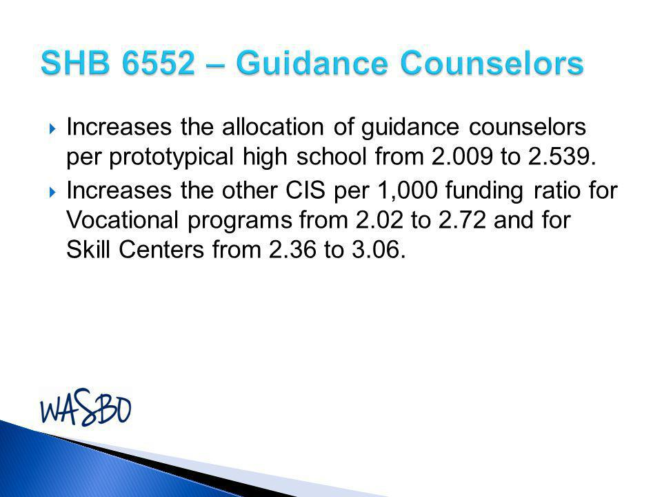 SHB 6552 – Guidance Counselors