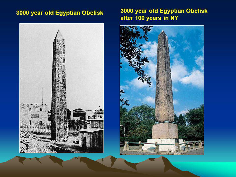 3000 year old Egyptian Obelisk after 100 years in NY