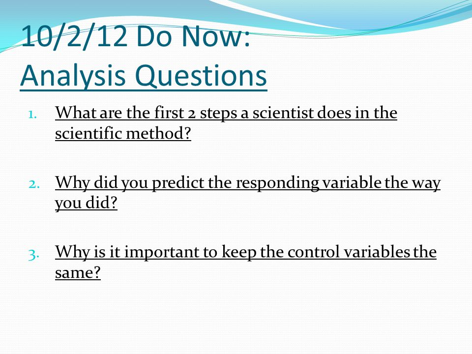 10/2/12 Do Now: Analysis Questions
