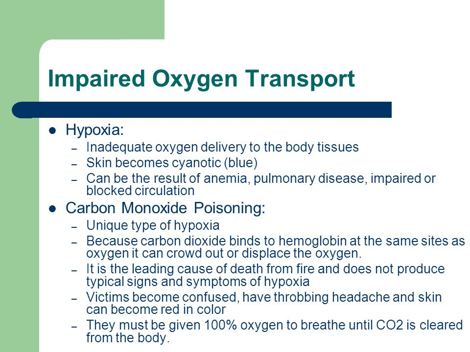 Impaired Oxygen Transport