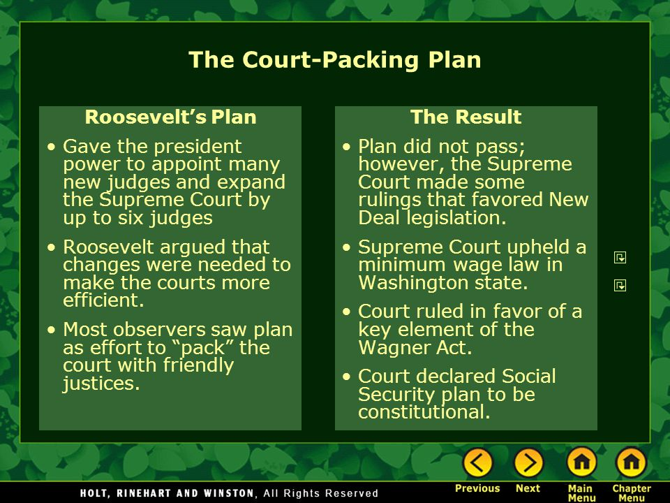 The Court-Packing Plan