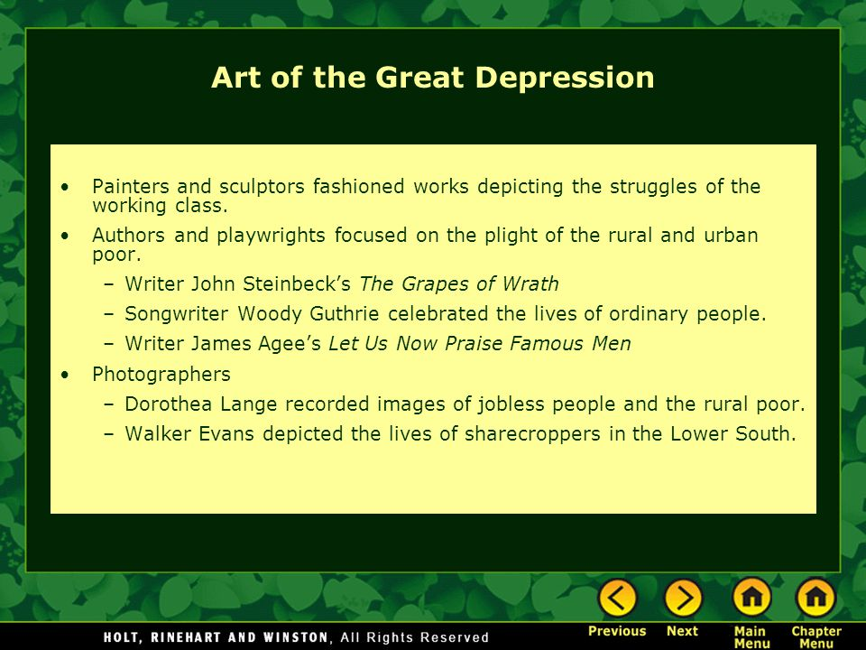 Art of the Great Depression