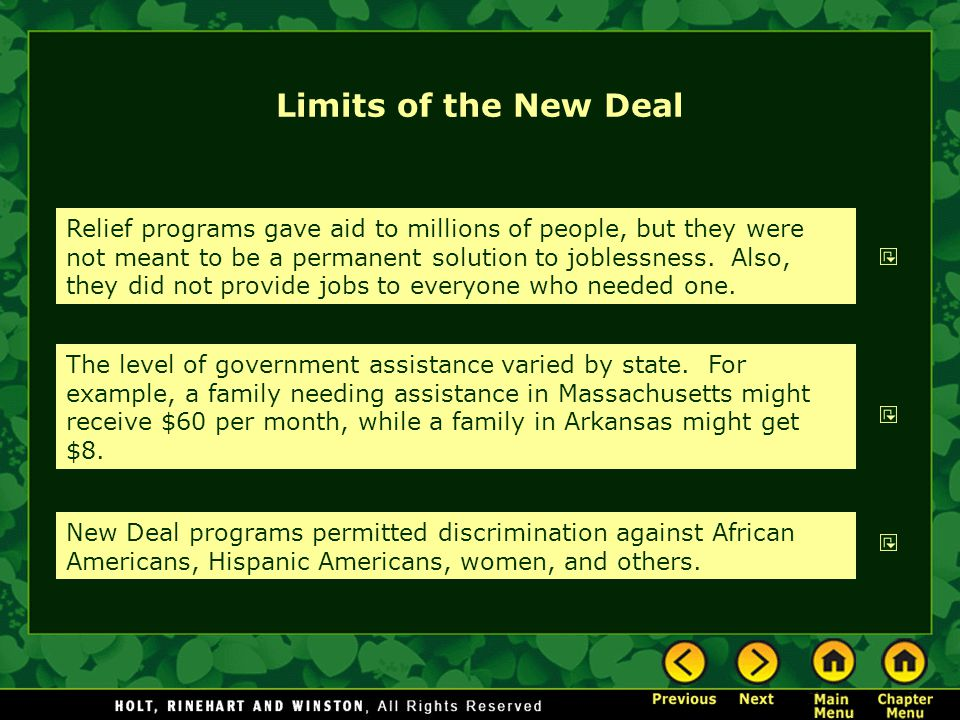 Limits of the New Deal