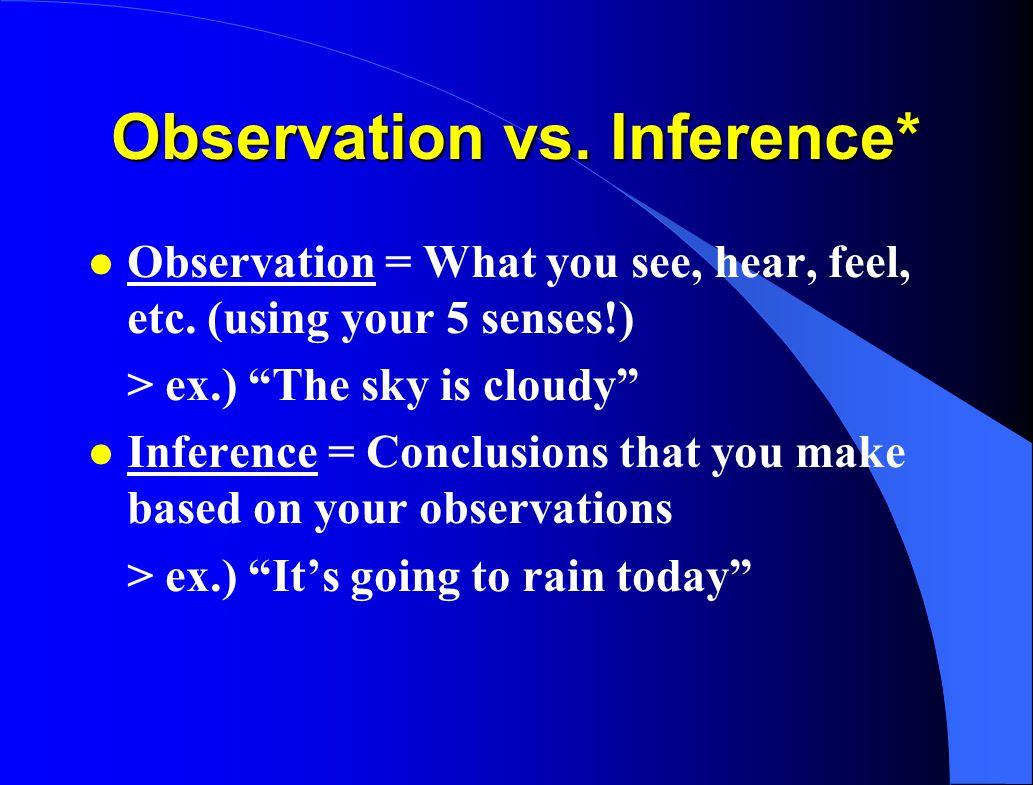 Observation vs. Inference*