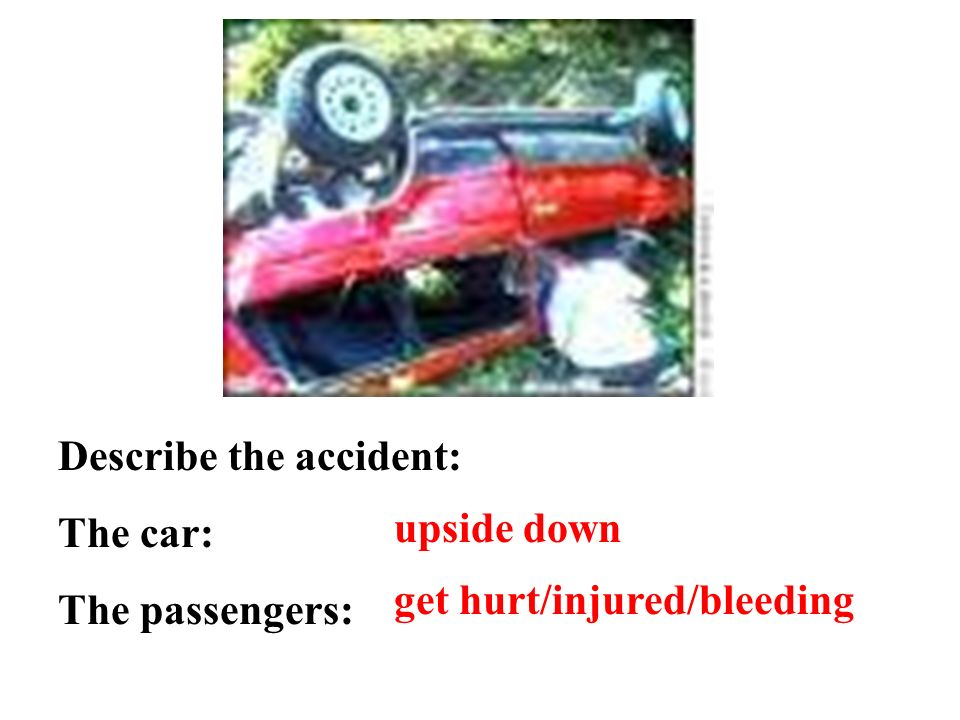 Describe the accident: