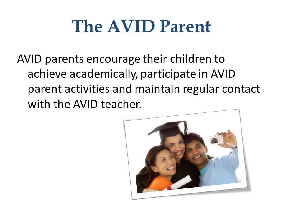 The AVID Parent
