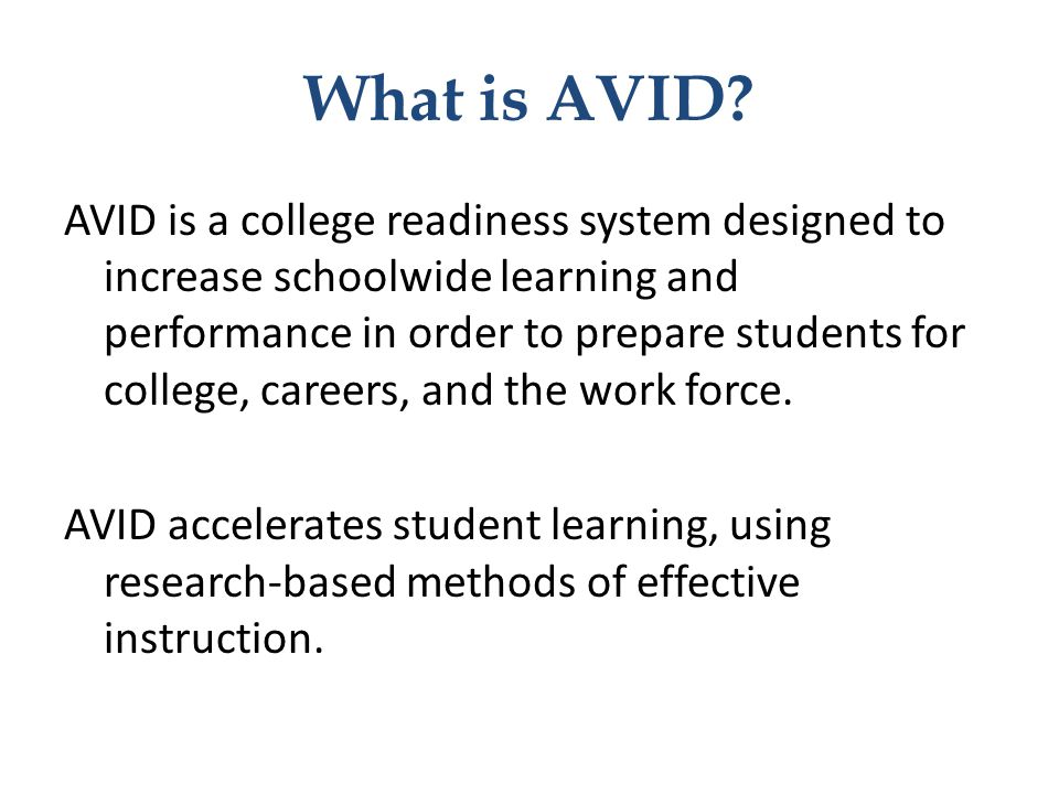 What is AVID