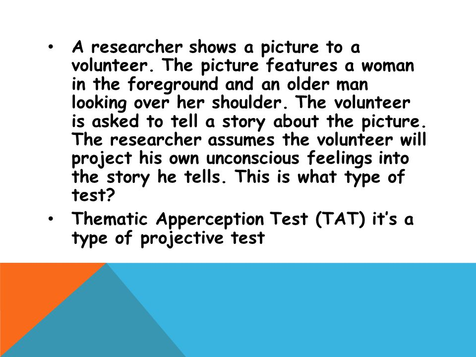 A researcher shows a picture to a volunteer