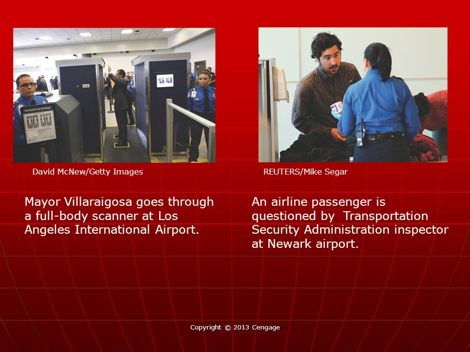 An airline passenger is questioned by Transportation