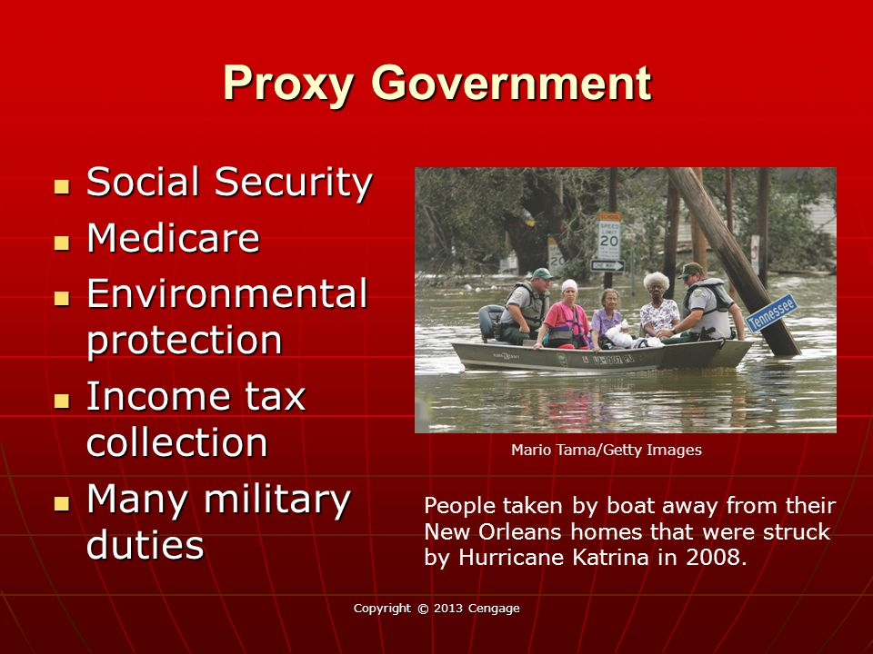 Proxy Government Social Security Medicare Environmental protection