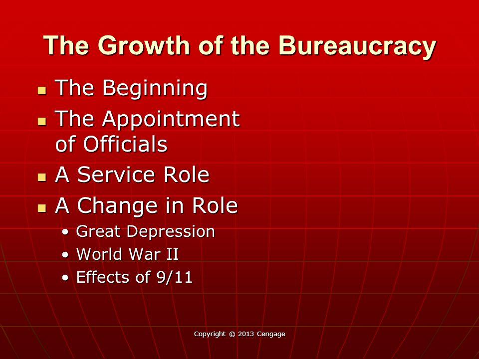 The Growth of the Bureaucracy