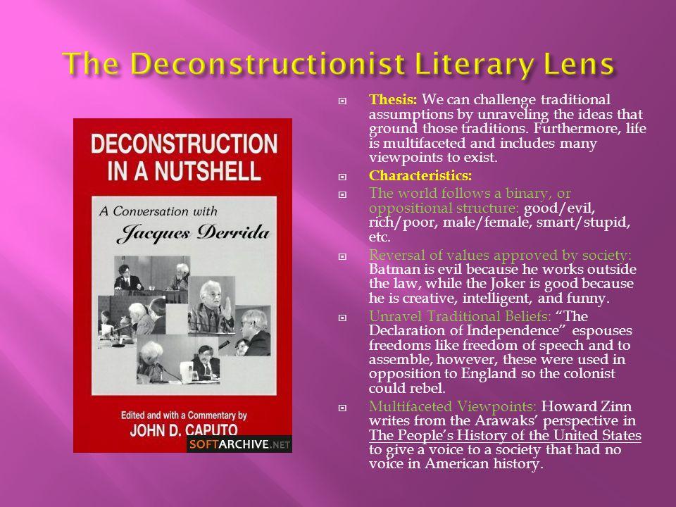 The Deconstructionist Literary Lens