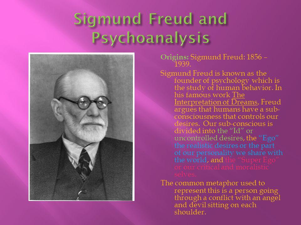 Sigmund Freud and Psychoanalysis