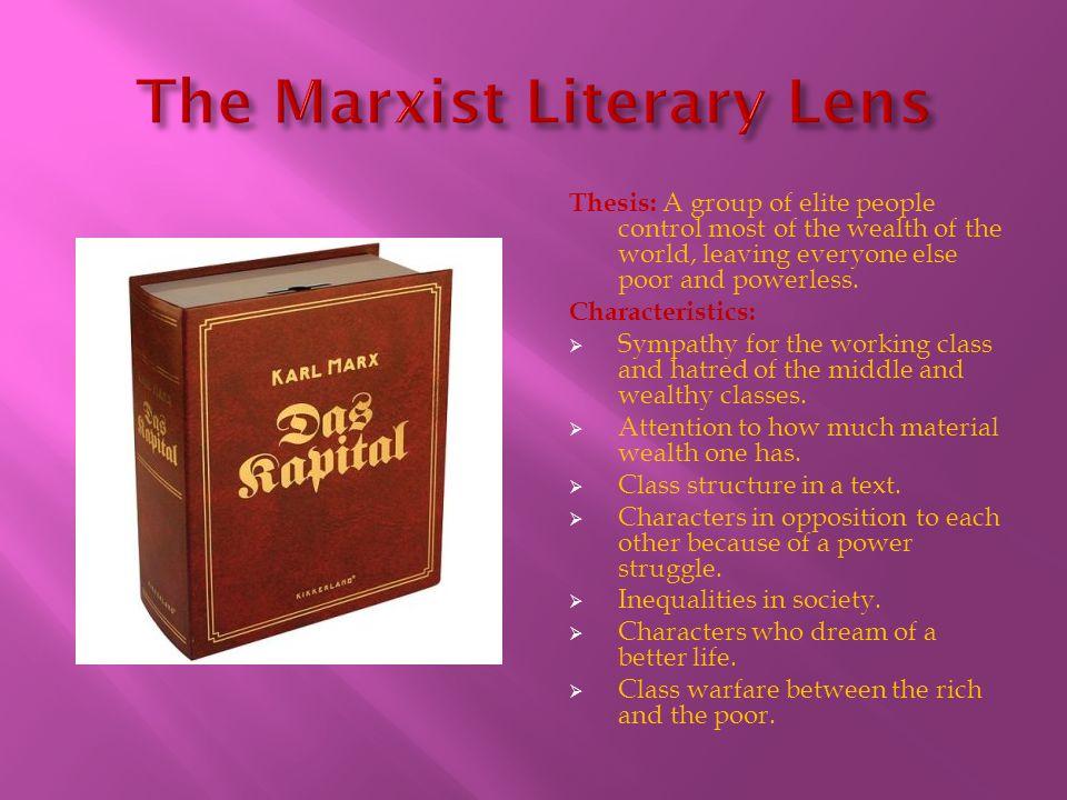 The Marxist Literary Lens