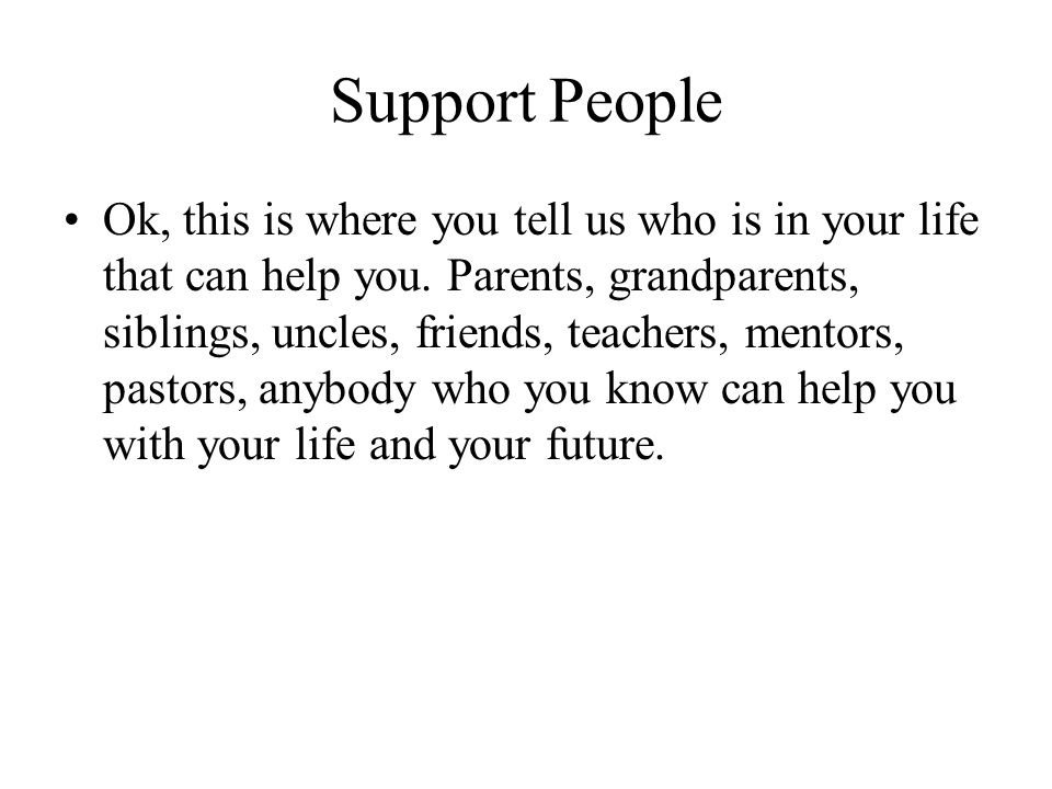 Support People