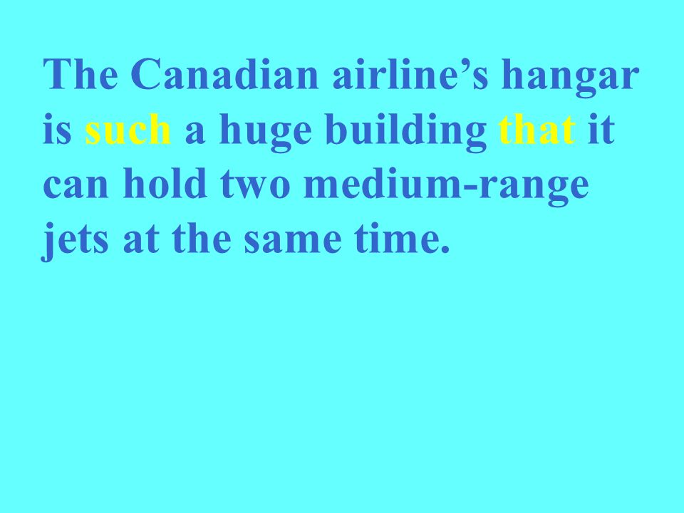 The Canadian airline's hangar is such a huge building that it can hold two medium-range jets at the same time.