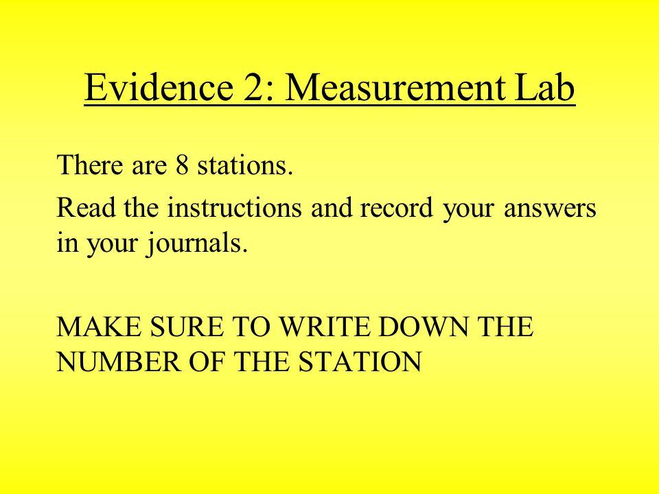 Evidence 2: Measurement Lab