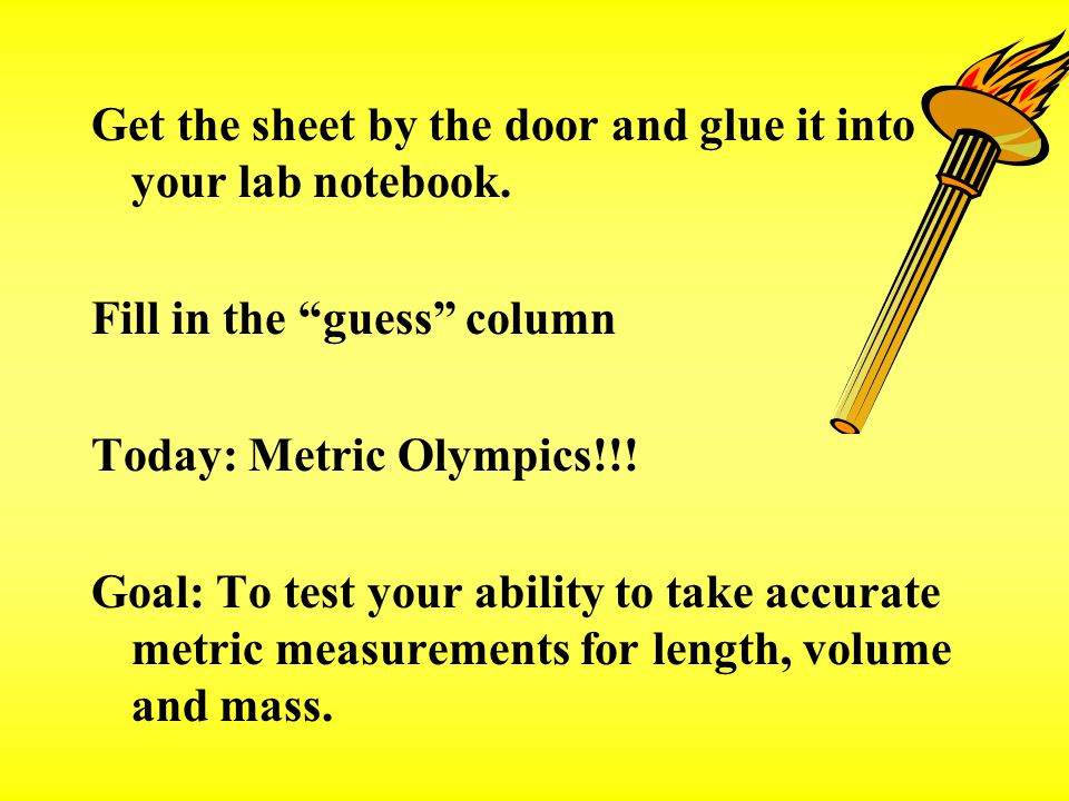 Get the sheet by the door and glue it into your lab notebook