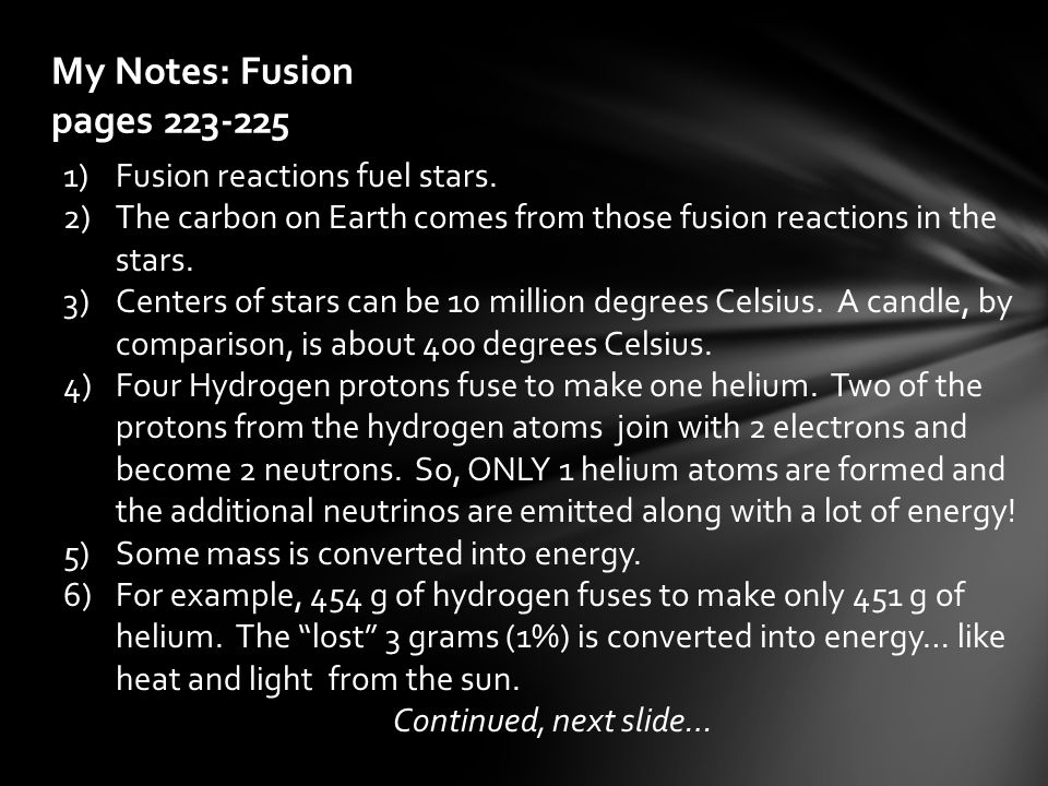 My Notes: Fusion pages