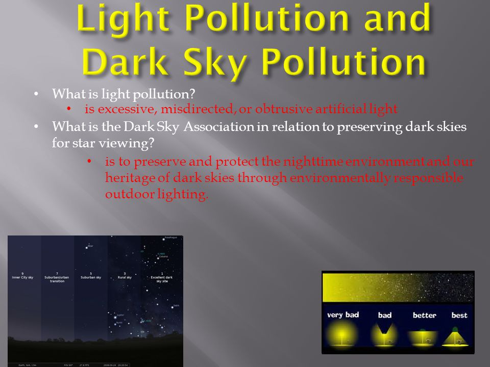 Light Pollution and Dark Sky Pollution