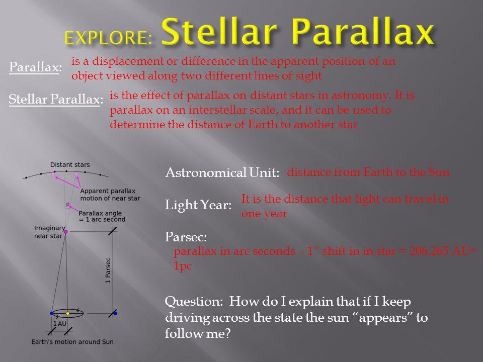 EXPLORE: Stellar Parallax