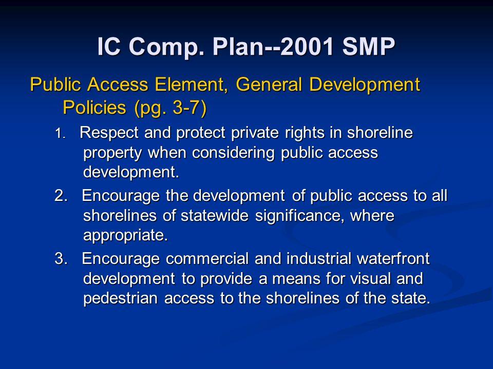 IC Comp. Plan--2001 SMP Public Access Element, General Development Policies (pg. 3-7)