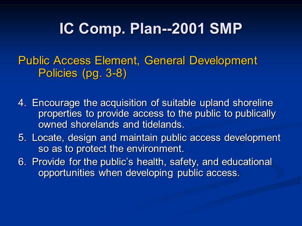 IC Comp. Plan--2001 SMP Public Access Element, General Development Policies (pg. 3-8)