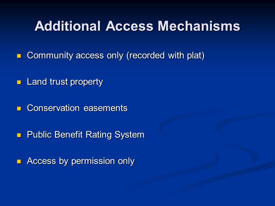 Additional Access Mechanisms