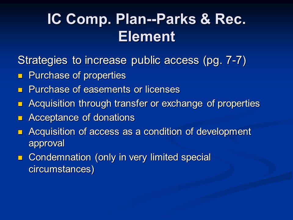 IC Comp. Plan--Parks & Rec. Element