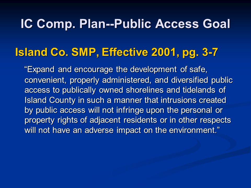 IC Comp. Plan--Public Access Goal