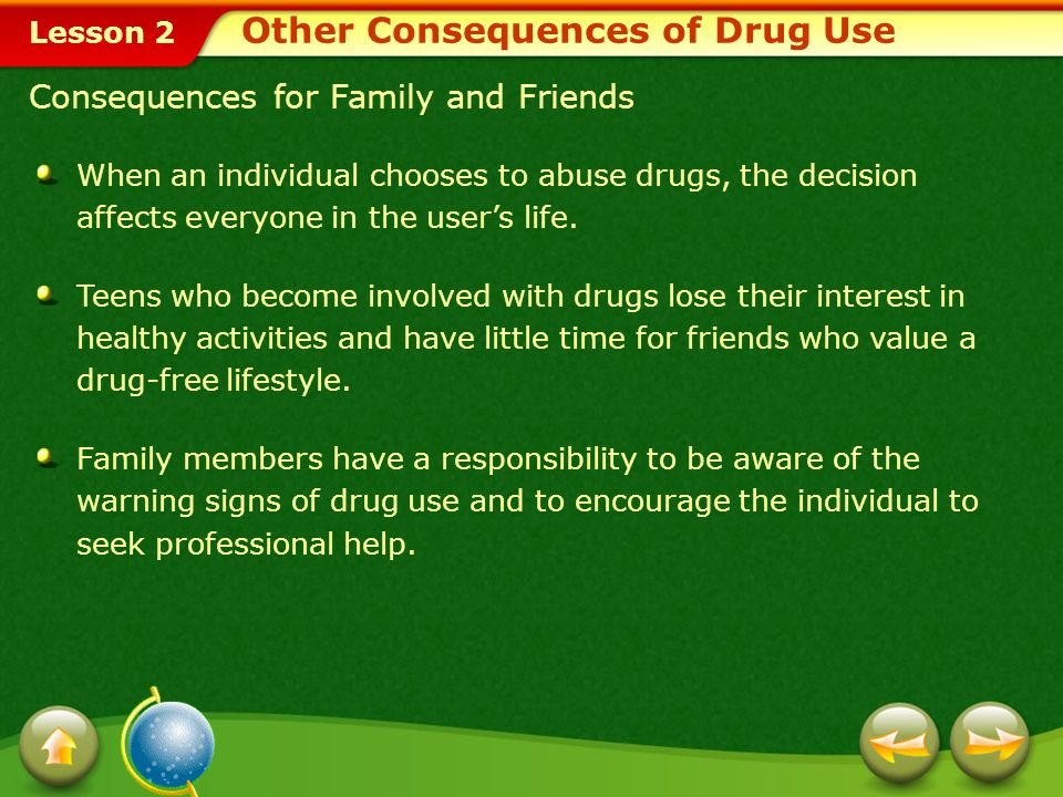 Other Consequences of Drug Use