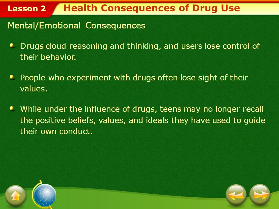 Health Consequences of Drug Use