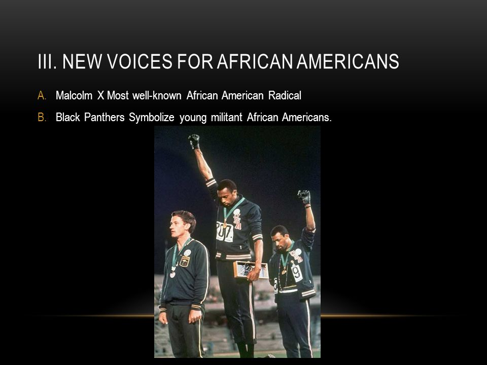 III. New voices for african americans