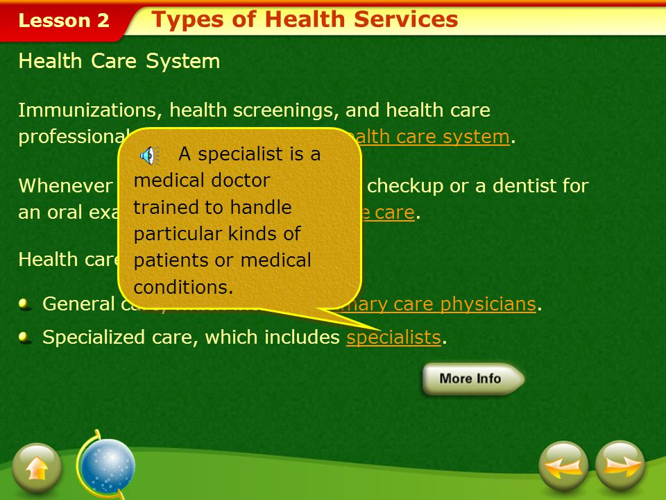 Types of Health Services