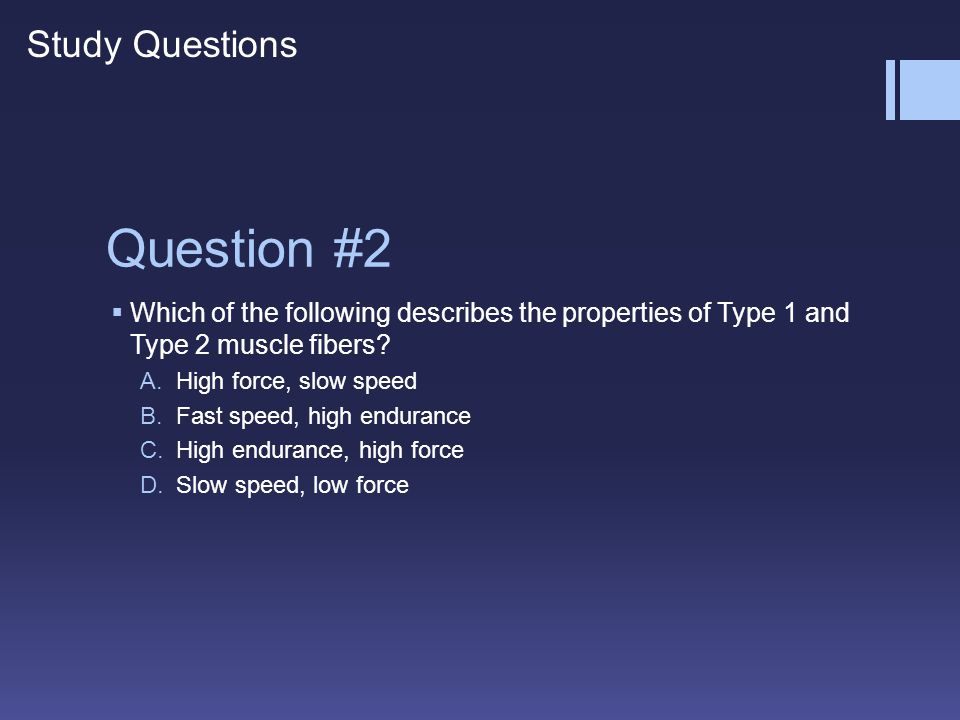 Question #2 Study Questions