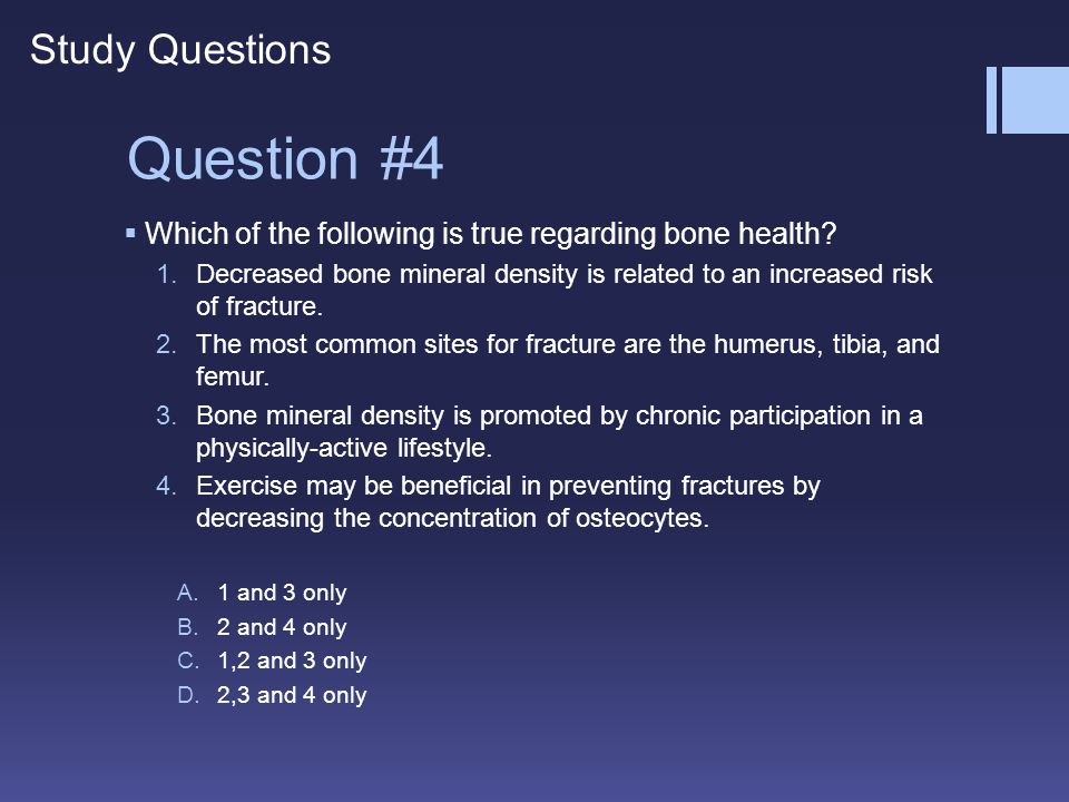 Question #4 Study Questions