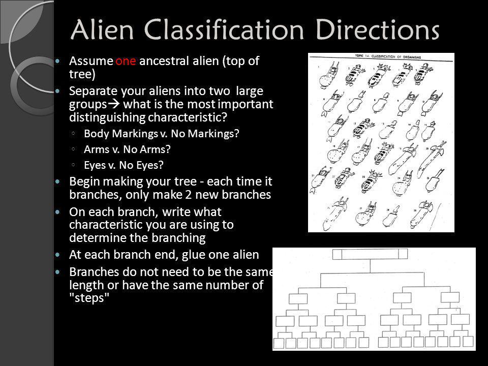 Alien Classification Directions