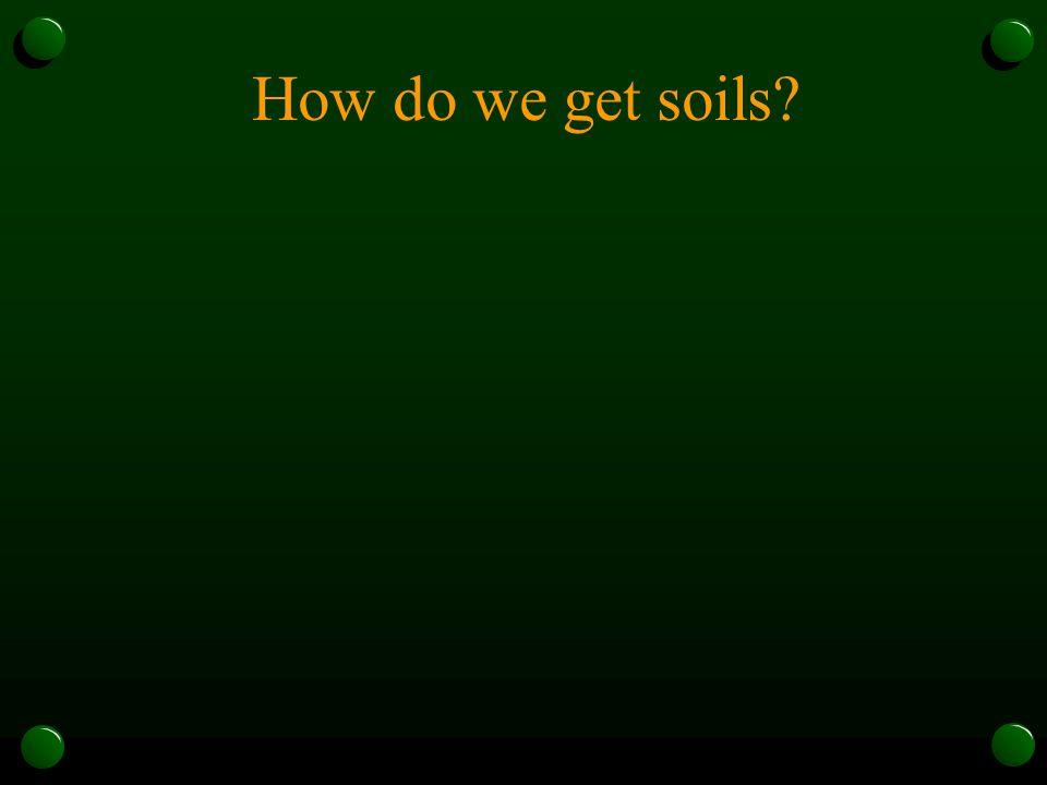 How do we get soils