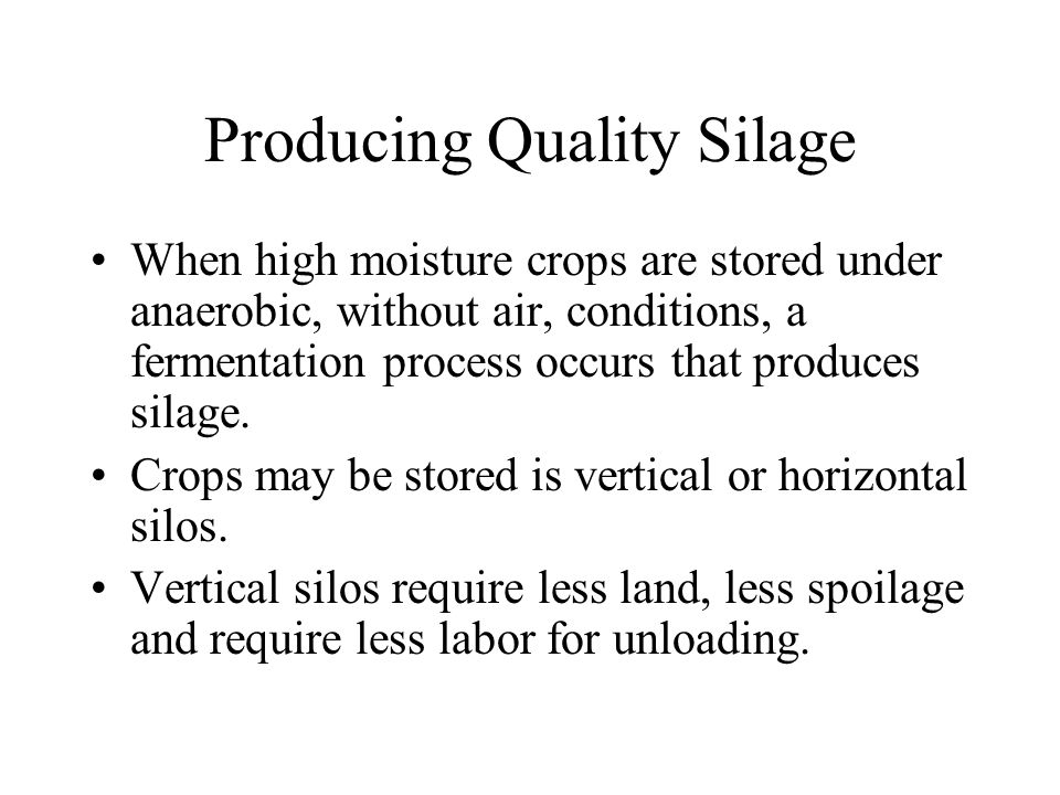 Producing Quality Silage