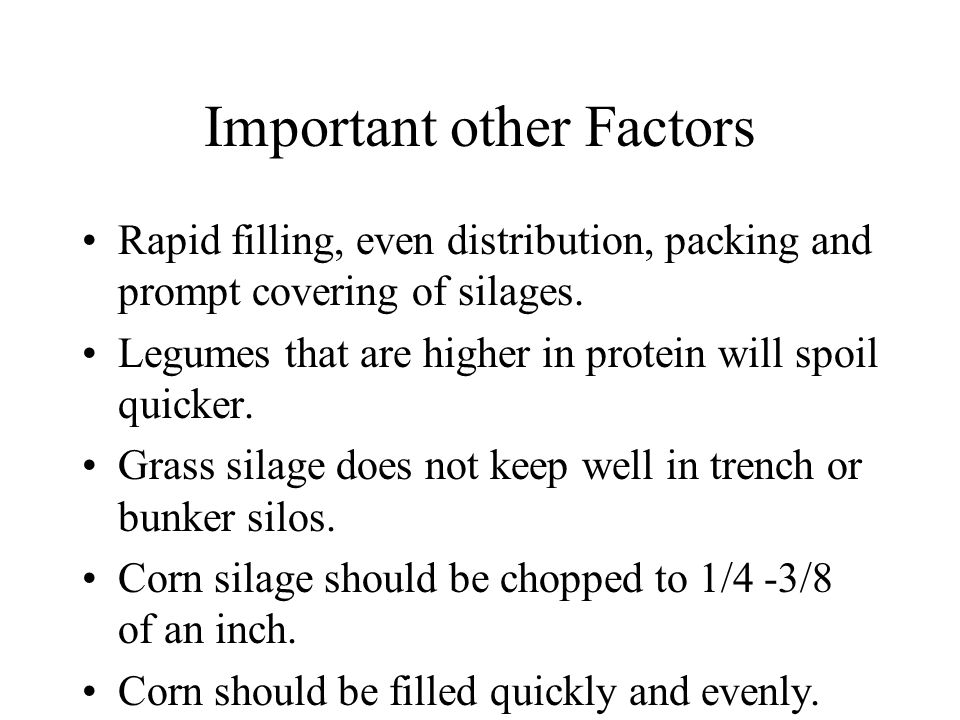 Important other Factors