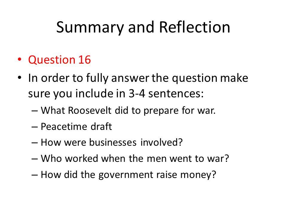 Summary and Reflection