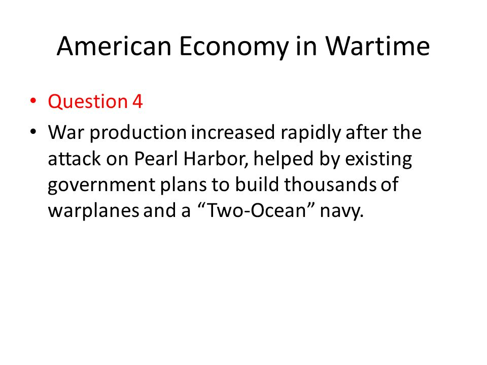 American Economy in Wartime