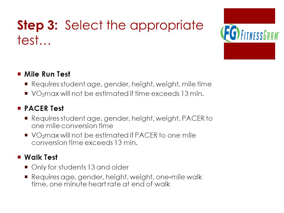 Step 3: Select the appropriate test…