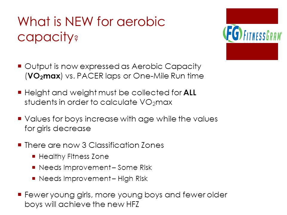 What is NEW for aerobic capacity