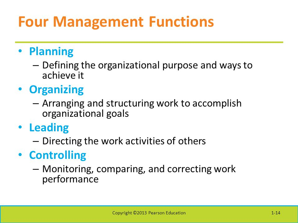 Four Management Functions